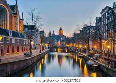 Church of Saint Nicholas in Amsterdam city, Netherlands.