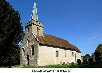 The church of Saint Nicholas in Steventon, Hampshire where the novelist Jane Austen's father was rector.  The Austen family lived nearby where Jane wrote Northanger Abbey and Pride & Prejudice.