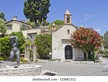 Church in Saint Paul de Vence, south of France
