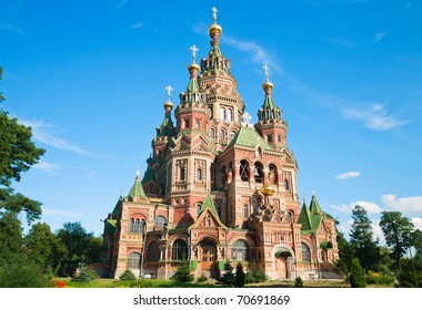 Church of Saint Peter and Saint Paul in Peterhof. Saint Petersburg. Russia.