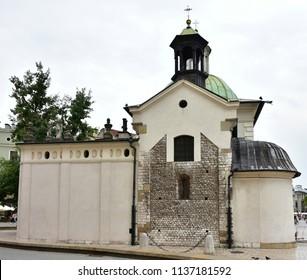 Church Saint Wojciecha in Cracow,Poland