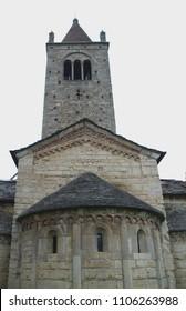 Church Saint'Egidio in Fontanella, Lombardy, Italy - First Romanesque building