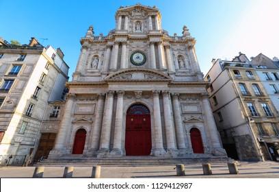 Church of Saint-Paul-Saint-Louis, Marais 4th arrondissement , Paris, France. A 17th century church showcasing Italian, French gothic and Dutch architecture - Corinthian and Composite orders.