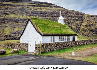 church in saksun faroe islands