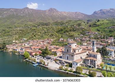 Church of Sala Marasina, lake of Iseo. Italy
