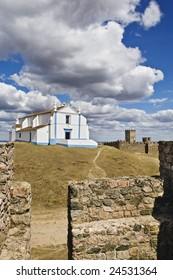 Church of Salvador inside the castle of Arraiolos, Alentejo, Portugal