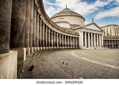 The church of San Francesco di Paola at Piazza del Plebiscito in Naples, Italy.