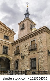 The church of San Gines (Iglesia de San Gines de Arles) in Madrid, one of the oldest churches in that city. Church of San Gines situated on the Calle Arenal. Madrid,Spain.