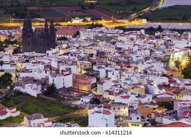 Church Of San Juan Bautista in Arucas. Arucas, Gran Canaria, Canary Islands, Spain.