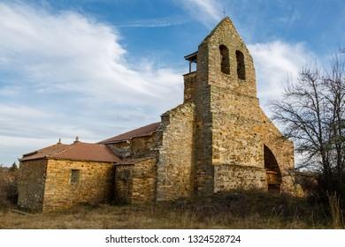 Church of San Juan Bautista of Turienzo de los Caballeros, Leon, Spain.