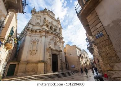 Church of San Matteo in Lecce, Puglia, Salento, capital of the Baroque. Lecce 01/08/2019 at 12:49 pm