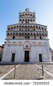 Church of San Michele. Lucca landmark. Italian panorama, Tuscany, Italy