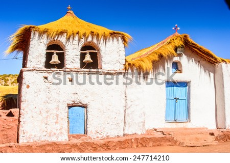 Church in the San Pedro de Atacama, Atacama desert, Chile