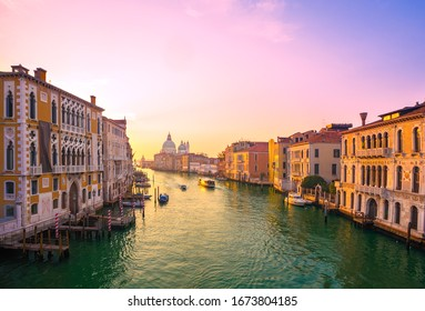 Church of San Simeone Piccolo and Grand Canal at dawn in Venice, Italy