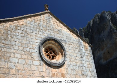 Church of San Bartolomé, Soria, Spain, Romanesque, Located in the natural park of the canyon of the river lobos, Romanesque rosette
