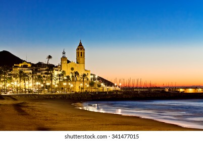 Church of Sant Bertomeu and Santa Tecla in Sitges. Spain