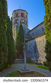 Church of Sant Pere de Galligants in Benedictine abbey in Girona, Catalonia, Spain