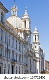 Church of Santa Agnese In Agony. Piazza Navona in Rome