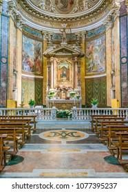 Church of Santa Maria ai Monti, in Rome, Italy. April-08-2018