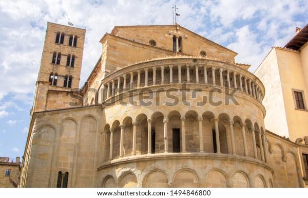 Church Santa Maria della Pieve Arezzo Italy