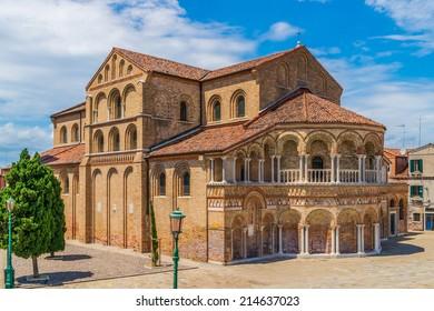 The Church of Santa Maria e San Donato at Murano Island in the venetian archipelago
