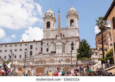 Church of the Santissima Trinit��� dei Monti is a late Renaissance titular church in Rome, central Italy.
