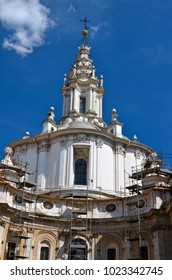 Church of Sant'Ivo alla Sapienza, in the heart of Rome, Italy. A Baroque masterpiece
