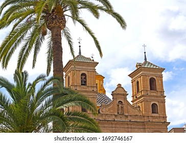 The Church of Santo Domingo, Murcia,  Spain was built between 1722 and 1745. This eighteenth century church is a convent in the old part of the city set in a plaza of the same name.