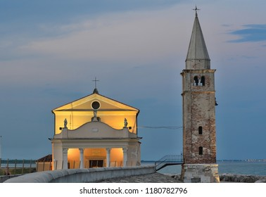 church Santuario della Madonna dell'Angelo, rebuilt in the 17th century on the foundations of the original church, Caorle, Italy