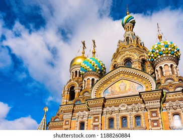 Church of Savior on Spilled Blood in St Petersburg, of Russia.