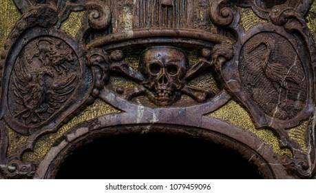Church sculpture close up picture