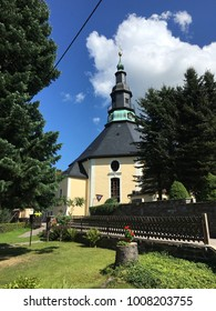 Church in Seiffen Ore Mountains in Saxony Germany