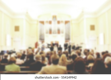 Church Service Blurred