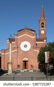 church in settimo milanese village in italy