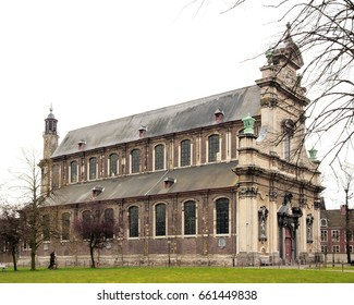 The church of the small Beguine convent Notre-Dame ter Hoyen (Ghent Belgium).
