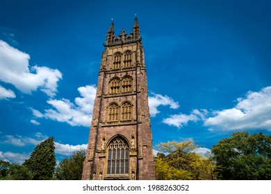 Church spire and sky in Taunton Somerset