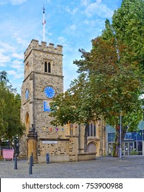 Church Square with St. Mary's Church in Putney, London, England