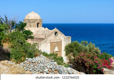 The church of St. Anne dated to the second Venetian occupation (1690-1720) in Monemvasia, Peloponnese, Greece.