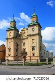 The church of St. Anthony of the bernardine monastery in Zbarazh, Ukraine
