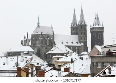 Church of St. Bartholomew at Winter, city Kolín, Czech republic,