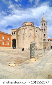 Church of St Donatus and Roman column in Zadar, Croatia