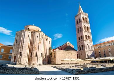 Church of St Donatus and Roman Forum in Zadar (Croatia)