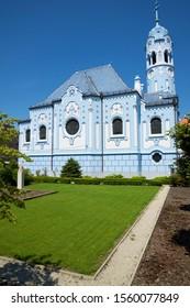 The Church of St. Elizabeth or Modry Kostol Svatej Alzbety known as Blue Church in Bratislava. - Shutterstock ID 1560077849