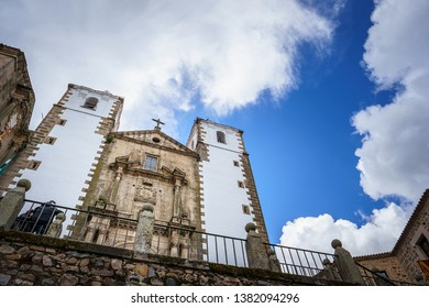 Church of St. Francisco Javier in the square San Jorge, Caceres. The Old town of Caceres is declared a UNESCO World Heritage site ref 384b
