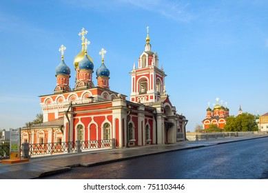 The Church of St. George on Varvarka street near the Zaryadye park and Red square