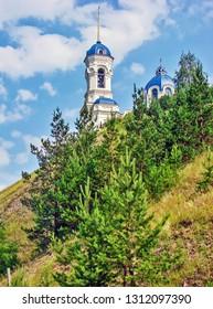 Church of St. John the Baptist on Orlov Mountain. Dir. Sverdlovsk region. Russia