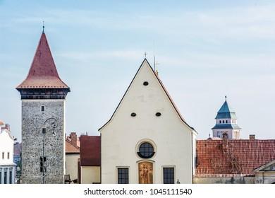 Church of St. John the Baptist, Znojmo, southern Moravia, Czech republic. Religious architecture. Travel destination.