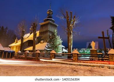 Church of St. John the Evangelist in Zakopane. Zakopane, Lesser Poland, Poland.