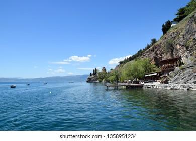 Church of St. John at Kaneo near Ohrid lake. Ohrid, Macedonia.