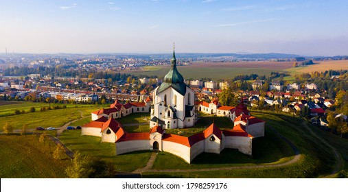 Church of St. John of Nepomuk. Zdar nad Sazavou. Czech republic - Shutterstock ID 1798259176